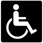 Handicap access sign
