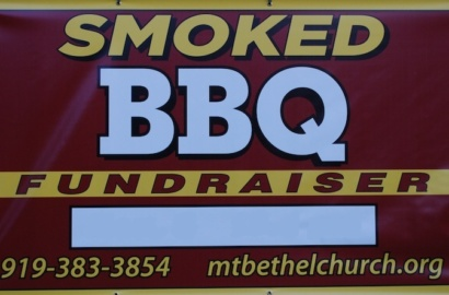 Signage for our BBQ Fundraiser