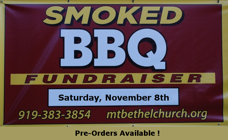 Signage for our 2014 BBQ Fundraiser