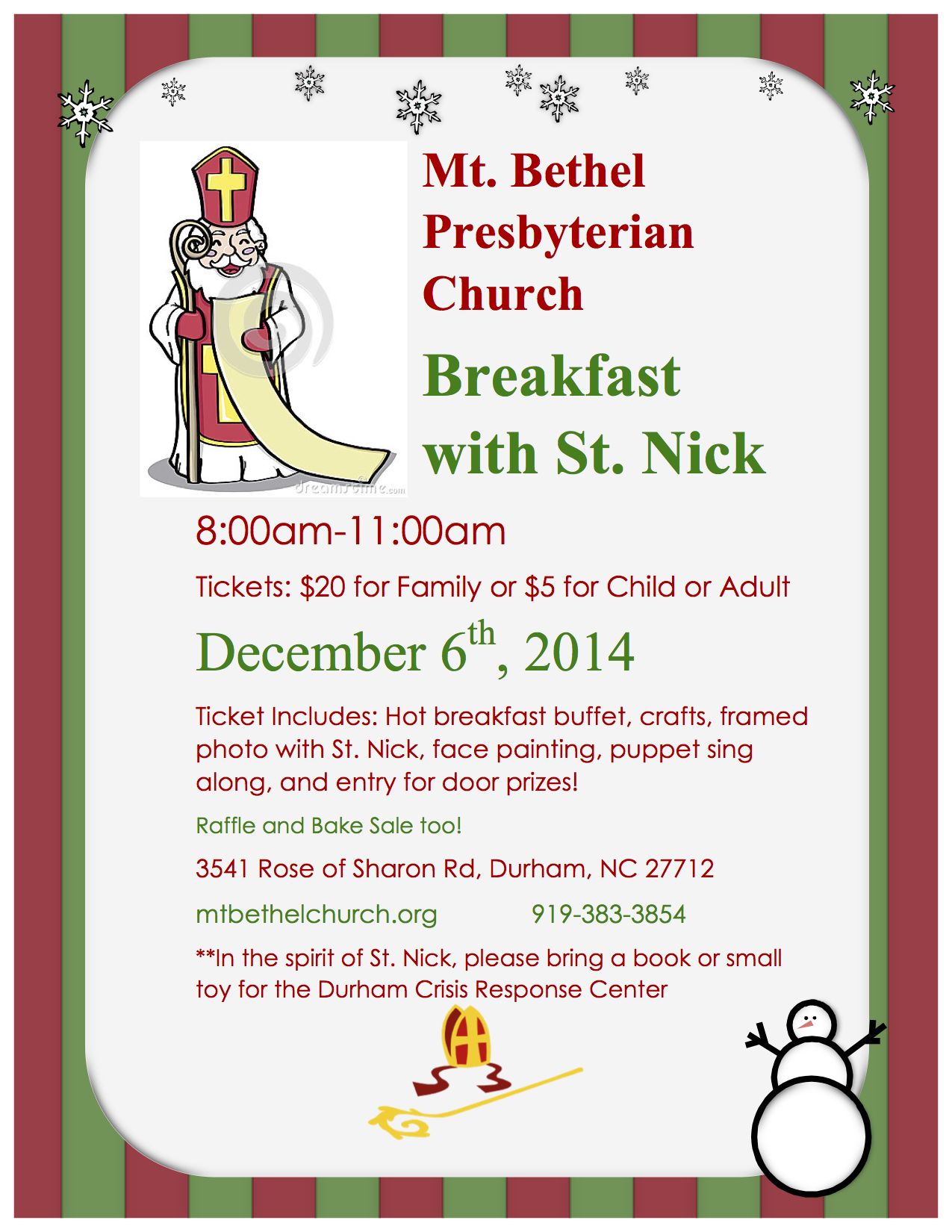 St. Nick flyer