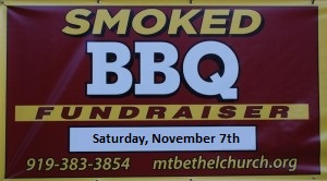 BBQ Fundraiser, November 7th