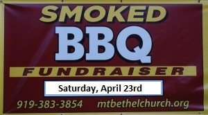 BBQ Fundraiser, April 23rd