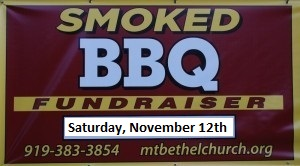 BBQ Fundraiser, November 12th