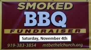 Smoked BBQ Fundraiser, November 4th