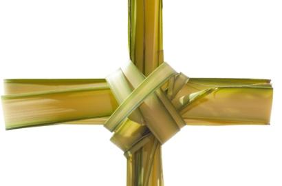 Cross made of palms